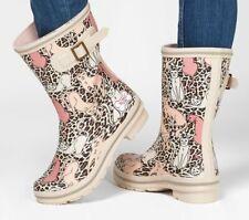 Skechers BOBS Raining Cats Rain Boots Size 10 # 113053 Blush Pink