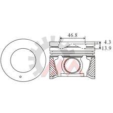 NM-Germany  Kolben & Ringe - Satz   Hyundai/Kia 2.0 CRDi Code: D4EA übermaß 0,50
