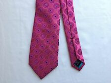 NWT NEW $85 MENS PINK TED BAKER LONDON GEOMETRIC EXPLODING FLORAL SILK NECK TIE