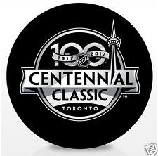 2017 Centennial Classic Souvenir Puck Toronto Maple Leafs vs Detrot Red Wings