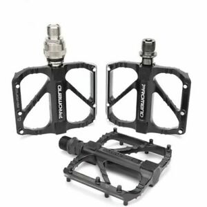 """Promend Quick Release Road Folding Pedal Bike Pedals 3 Bearing 9/16"""" Sealed"""
