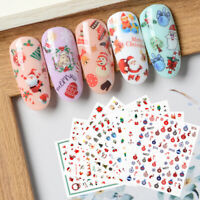 Christmas Water Decals Nail Art Stickers Snowflake Decoration Manicure Tips DIY