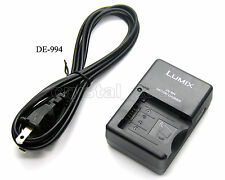 DE-994 Battery Charger for CGA-S002 DE-994A Panasonic DMC-FZ10 DMC-FZ15 DMC-FZ20