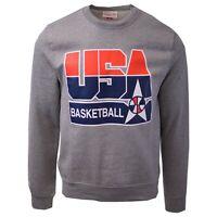 Mitchell & Ness Men's Team USA Basketball Grey L/S Crewneck Sweater