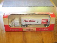 VTG PORTER CABLE TRUE VALUE PETERBILT TRACTOR TRAILER 1/64 DIECAST NEW BANK