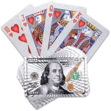 WATERPROOF PVC POKER SILVER PLATED PLAYING CARDS MAGIC TRICKS TABLE GAME XMAS UK