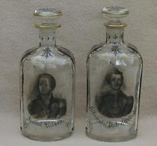 Antico Georgiano CONTINENTAL bohemian glass decanter annuncio Nelson Duca di Wellington