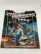 Transformers Panini 1986 Sticker Album Complete Hasbro