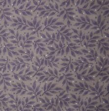 cotton quilt fabric small purple floral print Hoffman BTY calico doll making dot