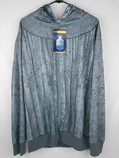 Doctor Who Weeping Angel Zip-Up Hoodie Costume size L Licensed Dr. NEW NWT