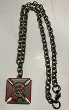Triple H WWE promo Authentic Necklace Chain Skull & Iron Cross 2004