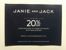 Janie & Jack  ~20% OFF Entire Purchase.  Online/Instore ~Exp. Jan.1, 2021
