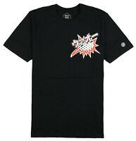 ASICS Tiger Happy Chaos T-Shirt sz L Large Black Orange Tokyo Japan Kayano