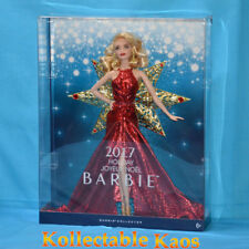 Barbie - 2017 Holiday Doll - Red metallic gown