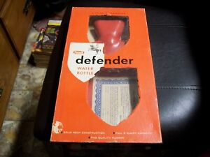 NOS Vintage Rexall Defender Hot Water Bottle Aches Pains Stomach Aches in box