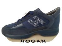 HOGAN INTERACTIVE WOMENS TRAINERS/SNEAKERS NAVY/SILVER/NAVY,- BRAND NEW BOXED