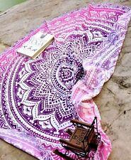 """Indian Roundie Round Mandala Hippie Tapestry Beach Throw Yoga Mat Bohemian 48"""""""