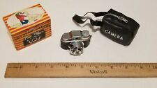 Vintage Made in Japan Miniature Spy Camera With Zippered Case and Box
