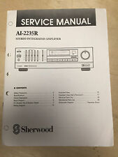 Sherwood Service Manual for the AI-2235R Amplifier AMP ~ Repair