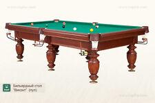 Poolbillard POOL Billard Tisch Billardtisch VIKONT 9 Ft massivholz Schiefer 25mm