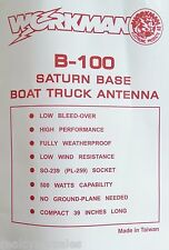 Workman Saturn B-100 No Ground-Plane CB Antenna Home Base Station, Marine, RV