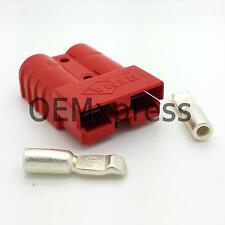 50 Amp red 24V connector with AWG 10 contacts