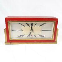 Seth Thomas Baxter Vintage Red Clock Decor Piece Not Working No Cord