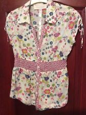 Ladies Gorgeous Floral Blouse with sequins & beads - size 8 - from River Island