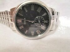 Mens Guess Designer Watch W80046G1 Wafer Steel Sub Dial  USED     (87Y)