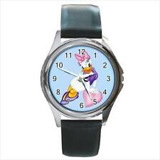 Brand NEW Daisy Duck SS Leather Band Japan Quartz Watch