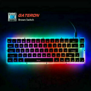 K66 USB-C Wired RGB Translucent Gasket Mechanical Gaming Keyboard for PC Gamers
