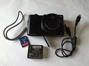 Panasonic LUMIX TZ100 Compact Camera Black + Charger & 2 batteries + Case + SD