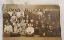 Antique Postcard Class Photograph Albia Iowa