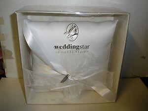 NEW Weddingsstar Collection white square pillow for ring bearer
