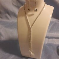 Formal Party Crystal Rhinestone Necklace Earring Jewelry Sets