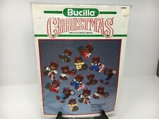 Bucilla plastic canvas Christmas Bears ornaments set of 14 New/old stock