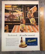 1950s Orig Hamms Beer Magazine Print Ad, St Paul, Mn. National Guard Recruiting