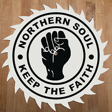 NORTHERN SOUL - KEEP THE FAITH BUZZSAW DJ SLIPMATS / SLIP MATS X 2 - TECHNICS