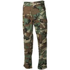 US ARMY TACTICAL BDU RIPSTOP TROUSERS MENS COMBAT CARGO WORK WEAR WOODLAND CAMO