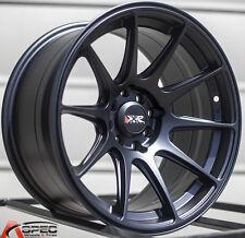 XXR 527 15X8.25 Rims 4x100/114.3mm +0 Black Wheels Fits Civic Ef Ek Eg Miata Mr2