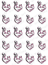 "20 Water Slide Nail Decals * Deer Pink Camo Country Love"" Valentine Not Browning"
