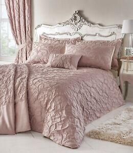 Bentley Blush Pink,Luxury Woven Jacquard Design Bed-Linen-Duvet Sets-Stunning