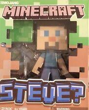 """Nib Mojang Spinmaster Minecraft Steve 6"""" Vinyl Figure Toy"""
