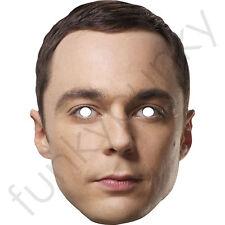 Sheldon Cooper celebrity acteur carte Masque-fabriqué au royaume-uni