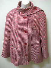 WINDSMOOR Women's Wool Coat with Scarf Red Size 14 NWT