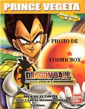DECK de 32 cartes DRAGON BALL Z starter PRINCE VEGETA dbz traidind cards paquet