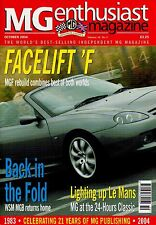 MG Enthusiast Magazine October 2004 .. Facelift F, MG Light up Le Mans, WSM MGB