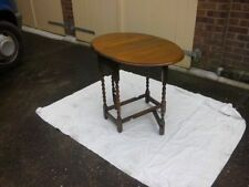 Oak Side & End Tables with Drop Leaf