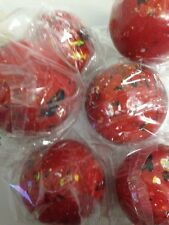 """Lot of 2 Giant Jawbreakers 2 1/4"""" Red Old Fashioned Nostalgic Candy"""
