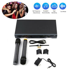 2CH VHF Wireless Dual HandHeld Microphone System/Digital Display For U-828 US WF